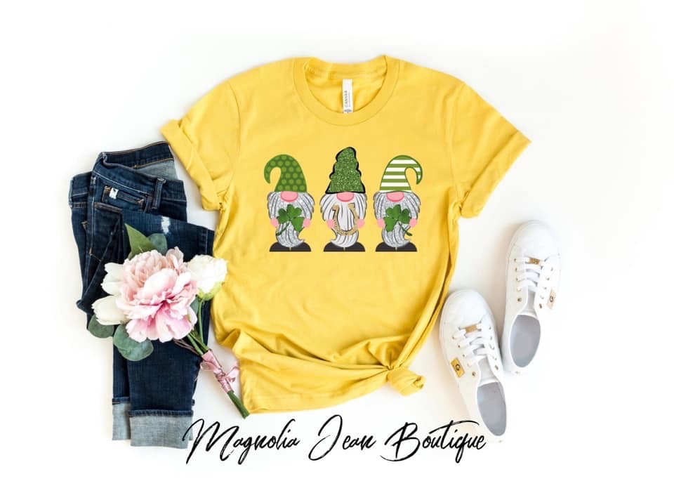 St. Patrick's Day Gnome Graphic Tee