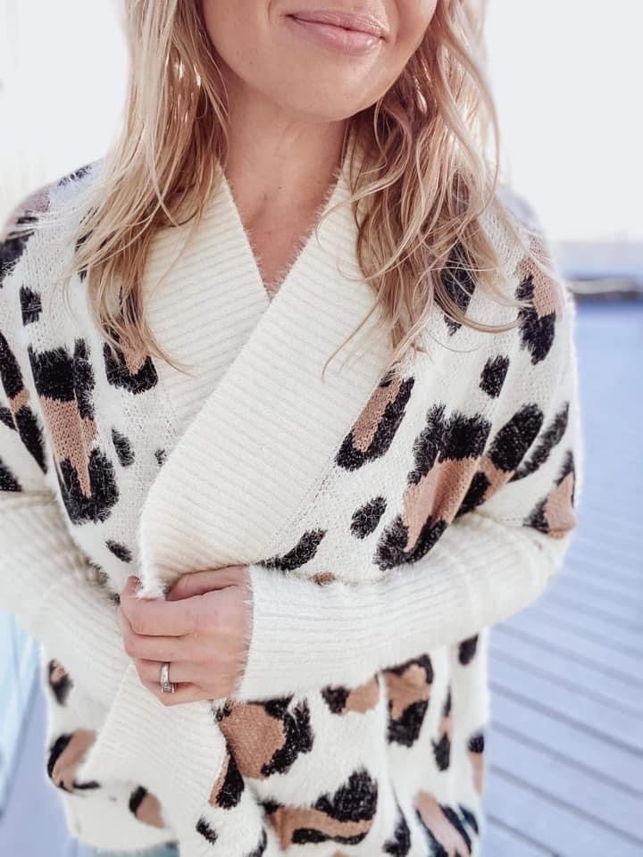 Libby Leopard Cardigan Sweater