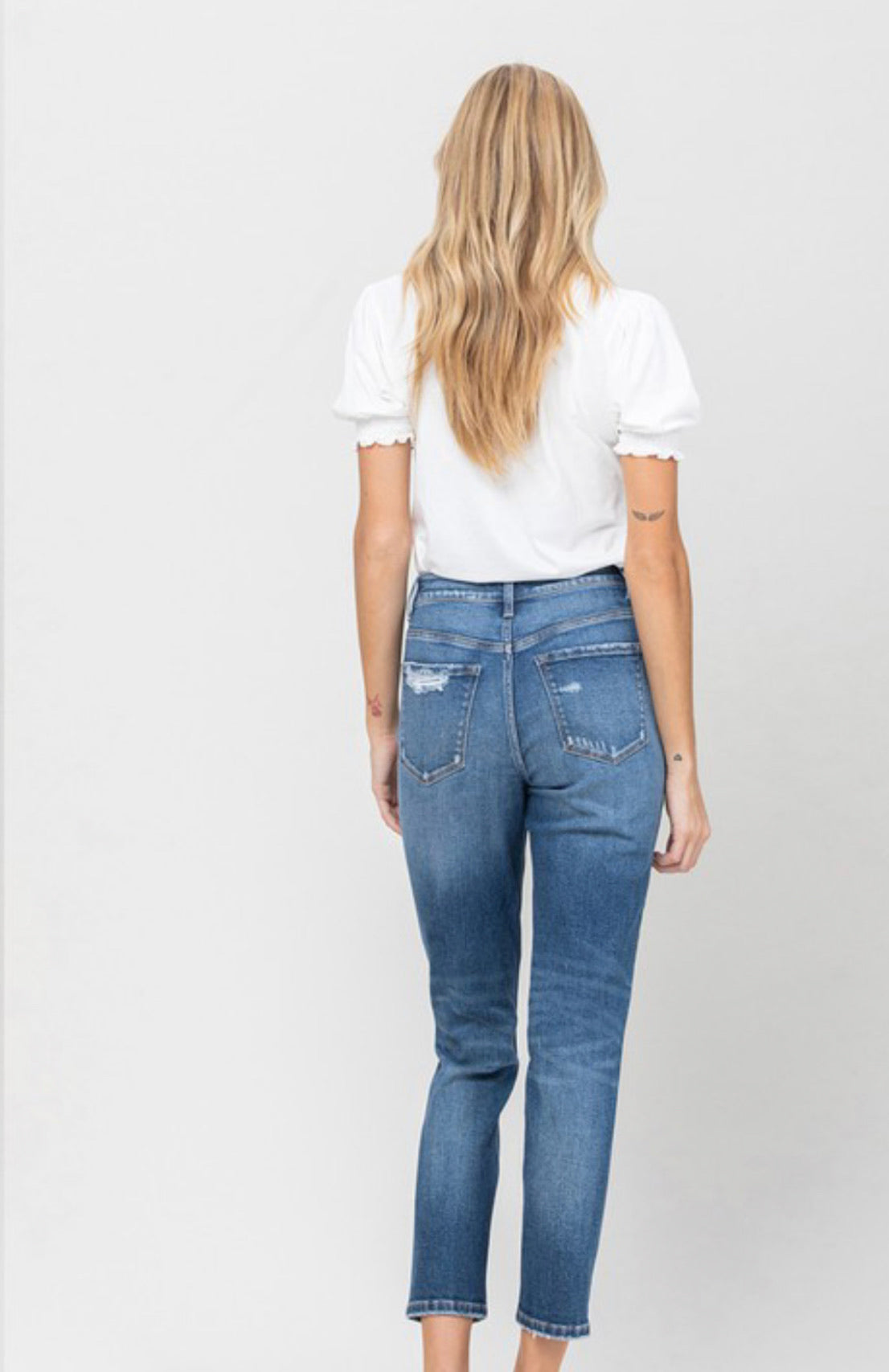 Erika Button Fly Mom Jeans