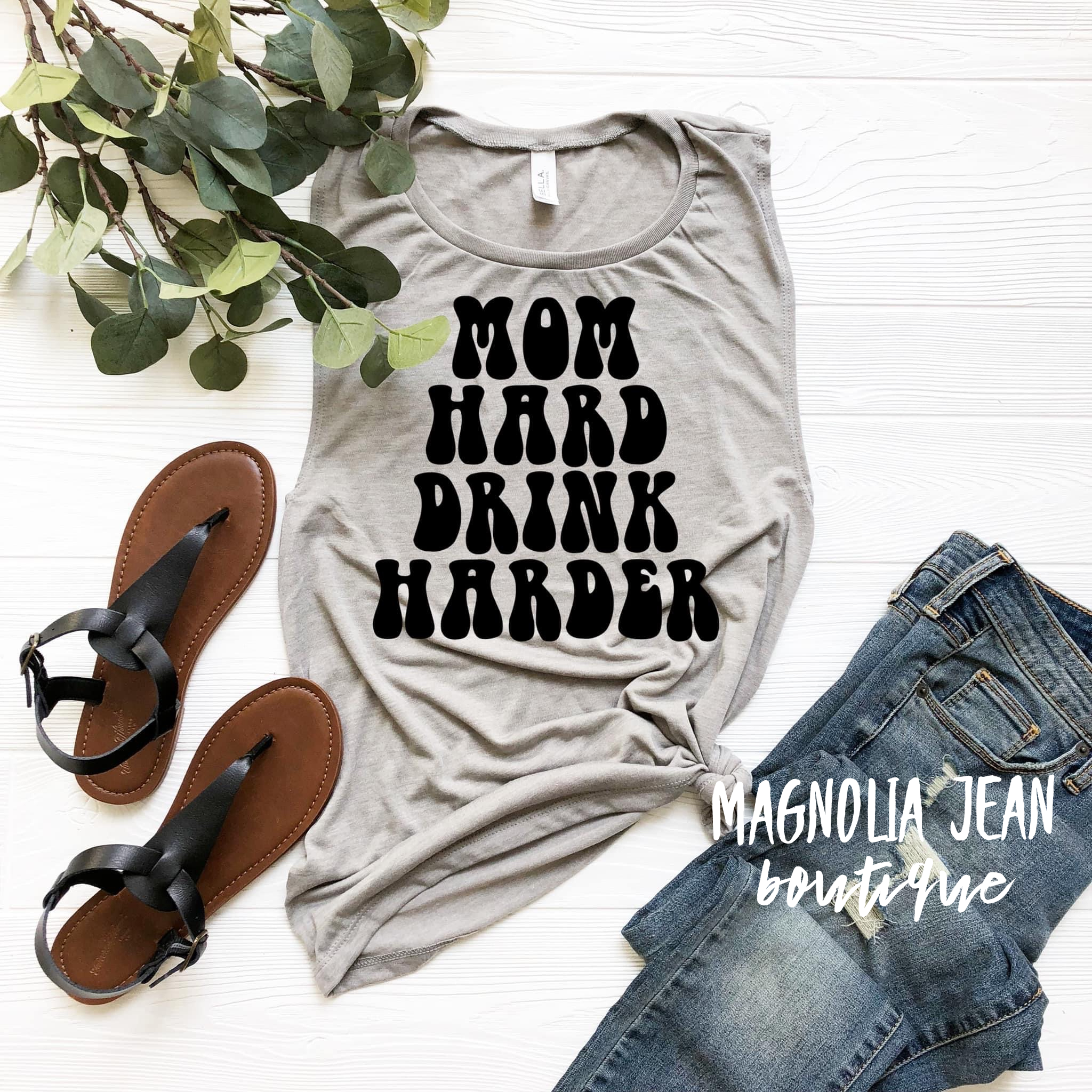 Special Order 🖤Mom Hard, Drink Harder 🖤Tank