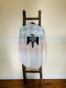 Upcycled Bleached Flannel LARGE