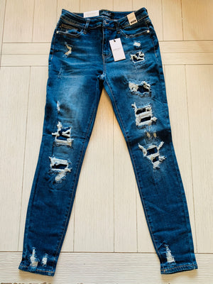 Judy Blue Black Friday Patched Denim