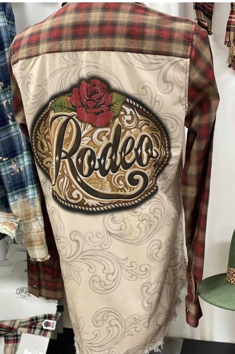 Rodeo Silk Back Button Up