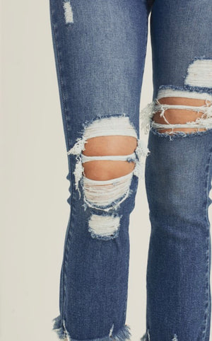 Rise To The Occasion Distressed Jeans