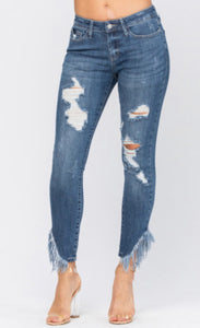 Judy Blue Fringe Benefits Stretch Jeans