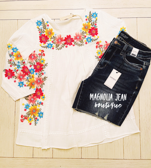 Kiss Of Sunshine Embroidery Top