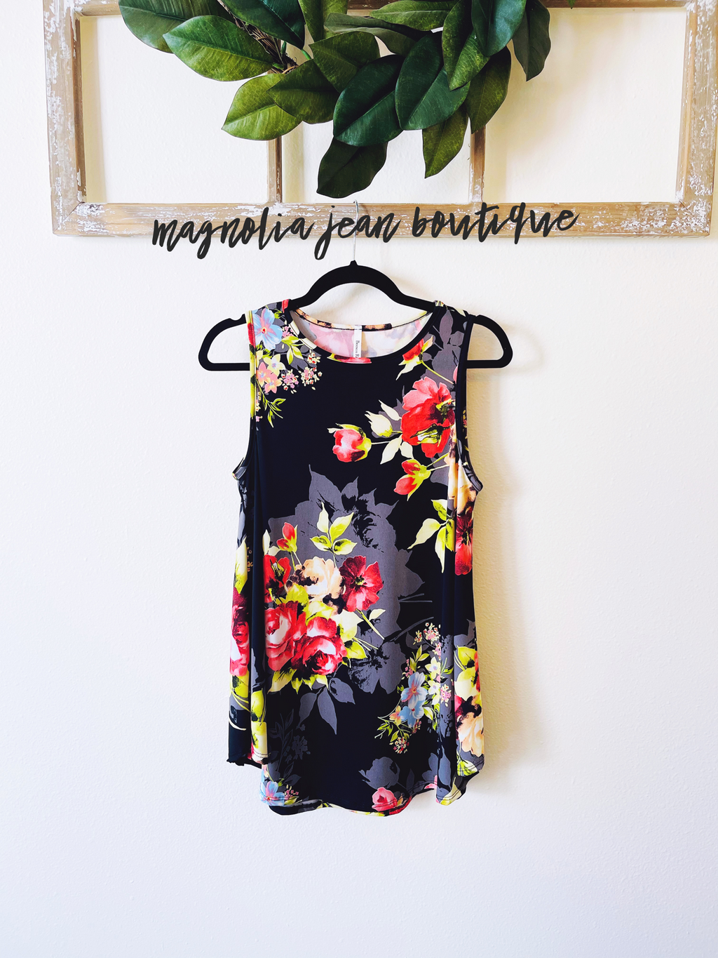 Sweet Honey Floral Swing Tank