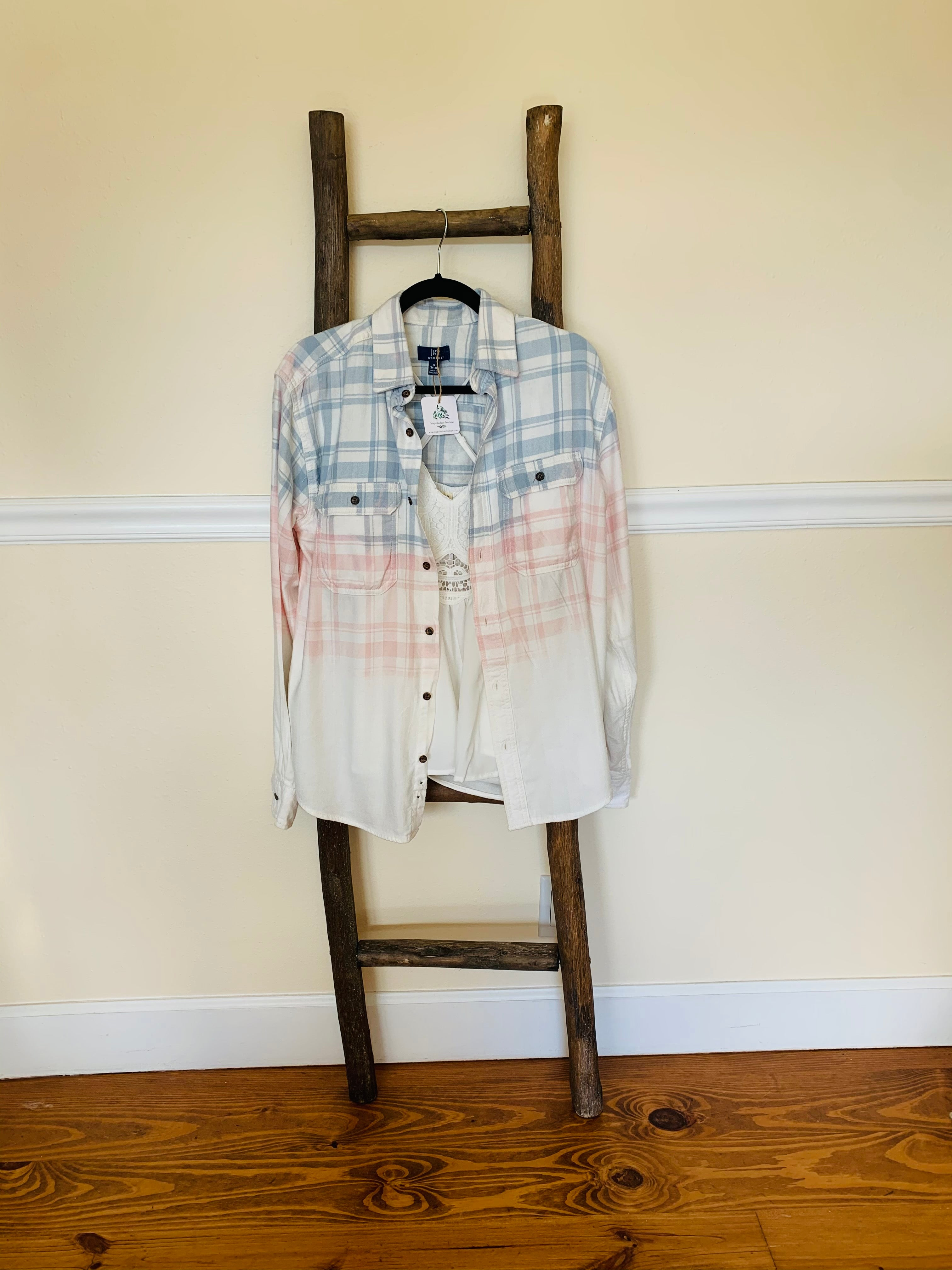 Upcycled Bleached Flannel SMALL