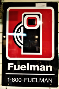 Fuelman Double Sided Metal Sign
