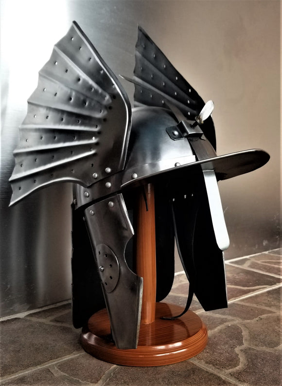 Polish Winged Hussar Steel-Finned Helmet (Reproduction)