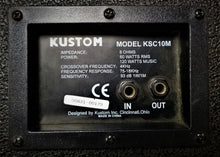 Load image into Gallery viewer, Kustom KSC10M Monitor Cabinet Speaker (Slight Feedback)