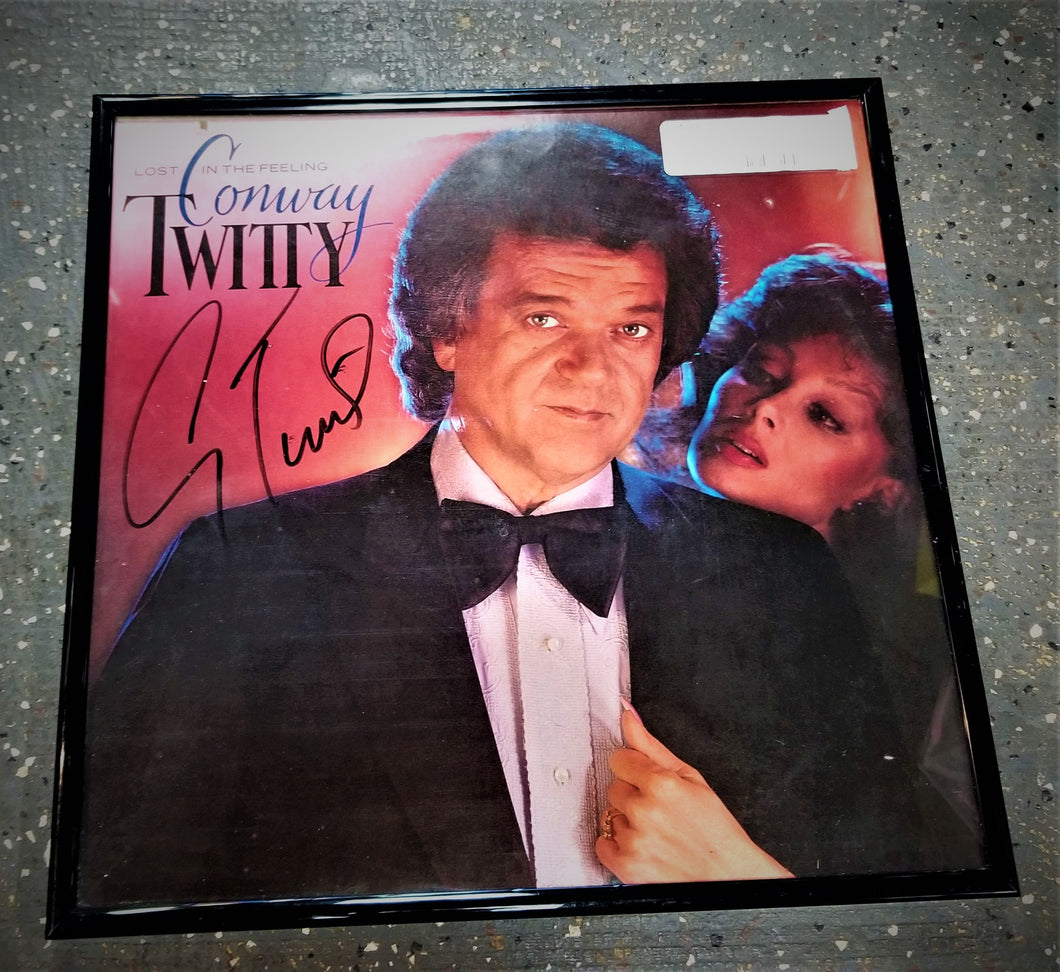 Conway Twitty Signed Framed LP
