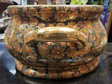 Antique Gilded Asian Painted Wide Basin