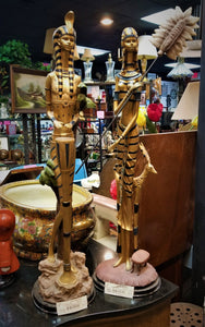 Very Tall Egyptian Figure Pair