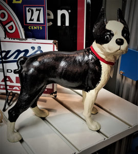 "Boston Terrier Cast Iron Figure - 10.5"" Tall"