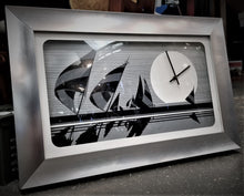 Load image into Gallery viewer, 1976 Welby Shadow Box Nautical Black and White Wall Clock