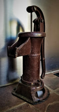 Load image into Gallery viewer, Antique Cast Iron Water Pump & Base