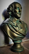 Load image into Gallery viewer, William Shakespeare Bronze-Colored Plaster Bust w/ Patina