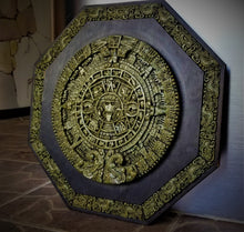 Load image into Gallery viewer, Aztec Sun Stone Calendar Wall Hanging