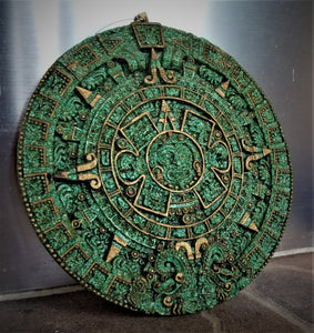 Aztec Sun Stone Calendar Wall Hanging by QuimioArt