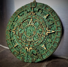 Load image into Gallery viewer, Aztec Sun Stone Calendar Wall Hanging by QuimioArt