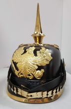 "Load image into Gallery viewer, German Empire / Prussian ""Pickelhaube"" Leather Helmet - Reproduction"