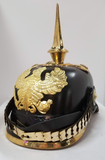 "German Empire / Prussian ""Pickelhaube"" Leather Helmet - Reproduction"