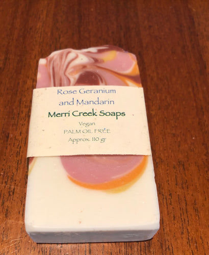 Rose Geranium and Mandarin Soap