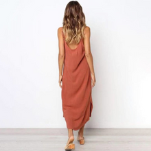 Load image into Gallery viewer, Maternity Dress Plain Cami Midi Dress