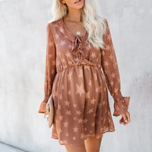 Load image into Gallery viewer, Maternity Fashion Long Sleeve Star Print Casual Dress