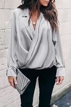 Load image into Gallery viewer, Maternity Fashion Turndown Collar Pure Color Blouse