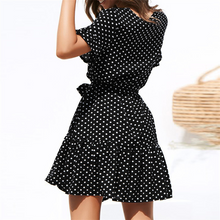 Load image into Gallery viewer, Maternity V-Neck Polka Dots Casual Above Dress