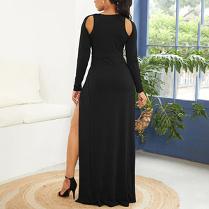 Maternity Sexy Backless Split Floor-Length Evening Dress