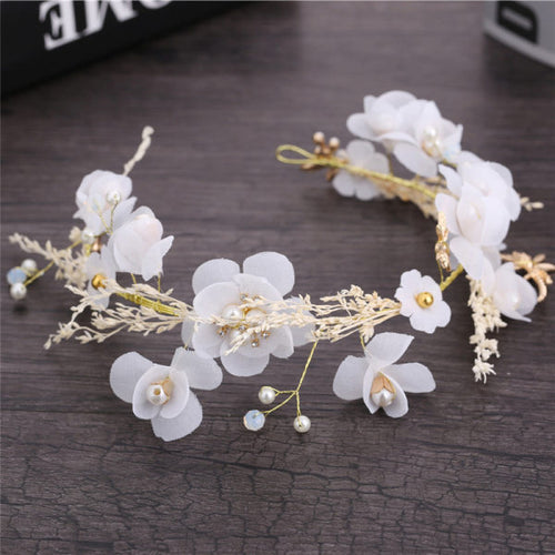 Gypsophila Dried Flower Headband Garland Hair Accessory
