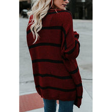 Load image into Gallery viewer, Maternity Easy Fashion Medium And Long Striped Cardigan
