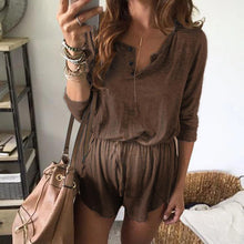 Load image into Gallery viewer, Maternity Solid Lace Up Long Sleeve Jumpsuit