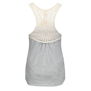 Maternity Pop Stripe Lace Tops Pregnant Women Vest