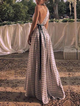Load image into Gallery viewer, Maternity Fashion Casual Polka Dots One Shoulder Sleeveless Maxi Dress
