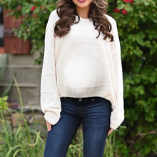 Load image into Gallery viewer, Maternity Fashion Casual Solid Color V-Neck Sweater