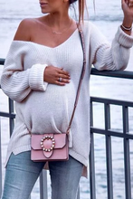 Load image into Gallery viewer, Maternity Classy V Neck Solid Color Long Sleeve Sweater