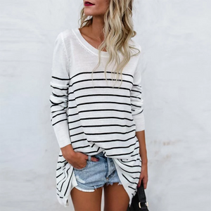 Maternity Fashion Casual Striped Bottoming T-Shirts