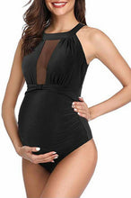 Load image into Gallery viewer, Maternity Fashion Sexy Black One Piece Swimwear