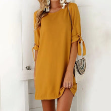 Load image into Gallery viewer, Maternity Fashion Round Neck Hlaf Sleeve Casual Shift Dress