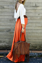 Load image into Gallery viewer, Maternity Fashion Casual Color Block Long Sleeve Backless Maxi Dress