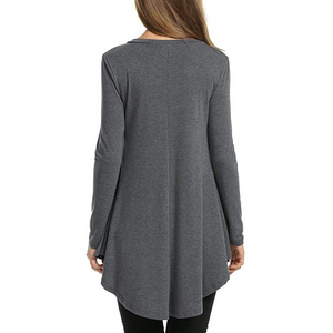Maternity Fashion Loose V Collar Long Sleeves Knitting T-Shirts