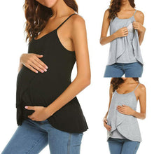 Load image into Gallery viewer, Maternity Fashion Casual Solid Color Sleeveless Nursing Camis&Vests