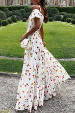 Load image into Gallery viewer, Maternity Fashion Casual Floral Print Off Shoulder Short Sleeve Maxi Dress