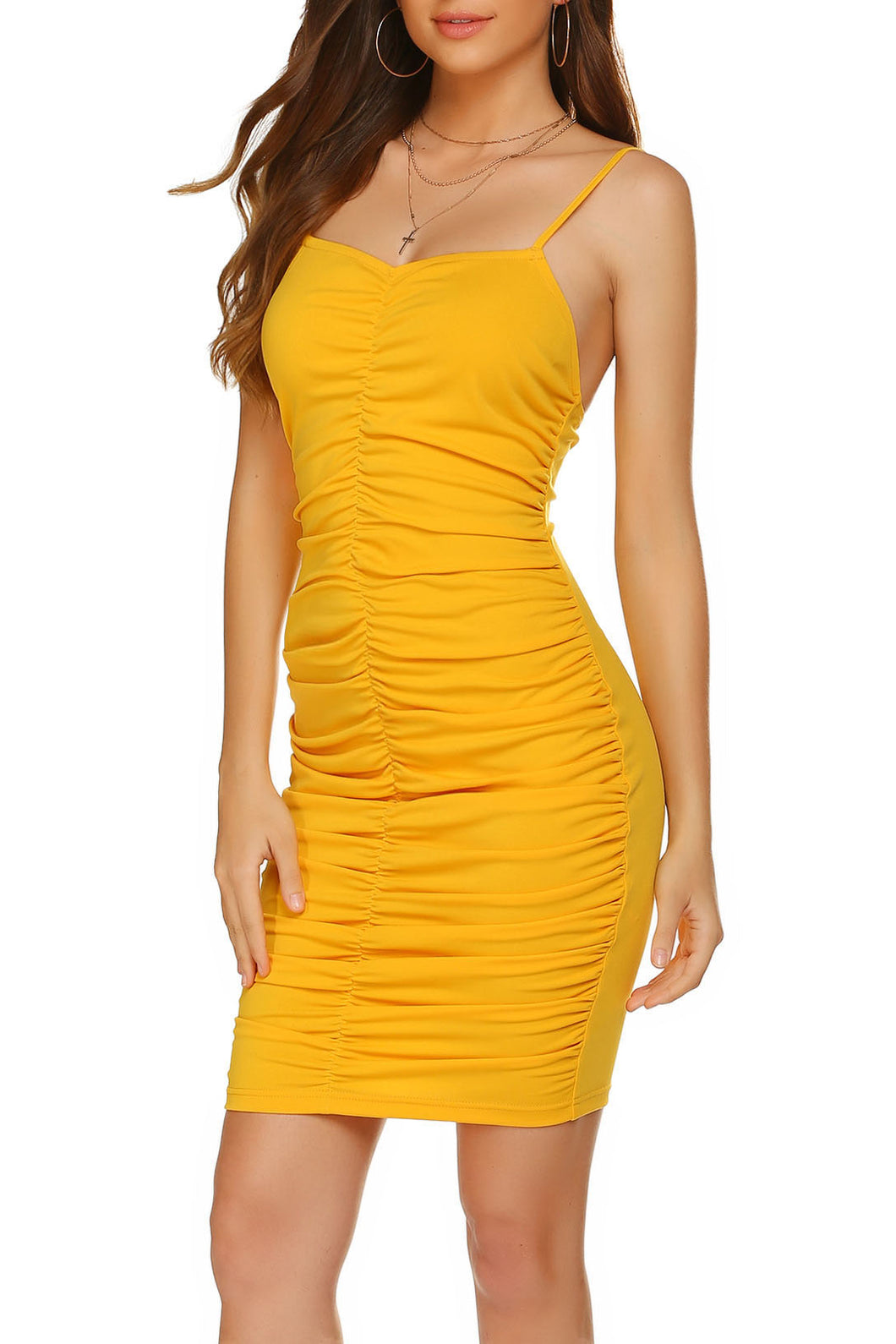 Maternity Fashion Solid Color Sleeveless Bodycon Dress
