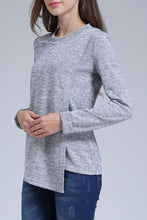 Load image into Gallery viewer, Maternity Fashion Casual Solid Color Round Neck Long Sleeve Nursing T-Shirts