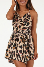 Load image into Gallery viewer, Maternity Fashion Leopard Sleeveless V-Neck Backless Casual Dress